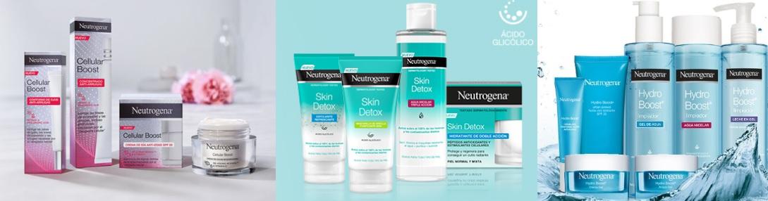 Neutrogena Hydro Boost Neutrogena Cellular Boost Neutrogena Skin Detox en Farma2go