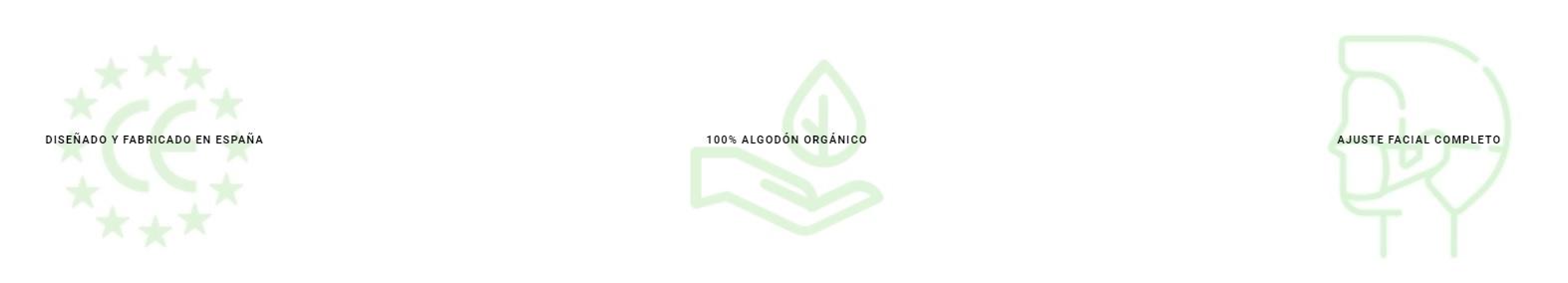 Mascarillas de algodon organico lavables para niños