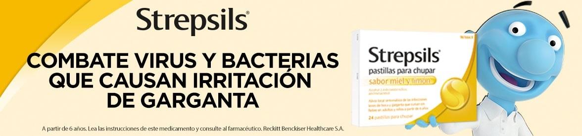 Strepsils pastillas garganta combate virus y bacterias