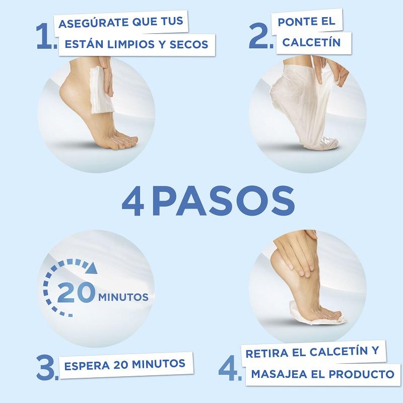 Scholl PediMask Mascarilla de Pies Nutritiva Instrucciones