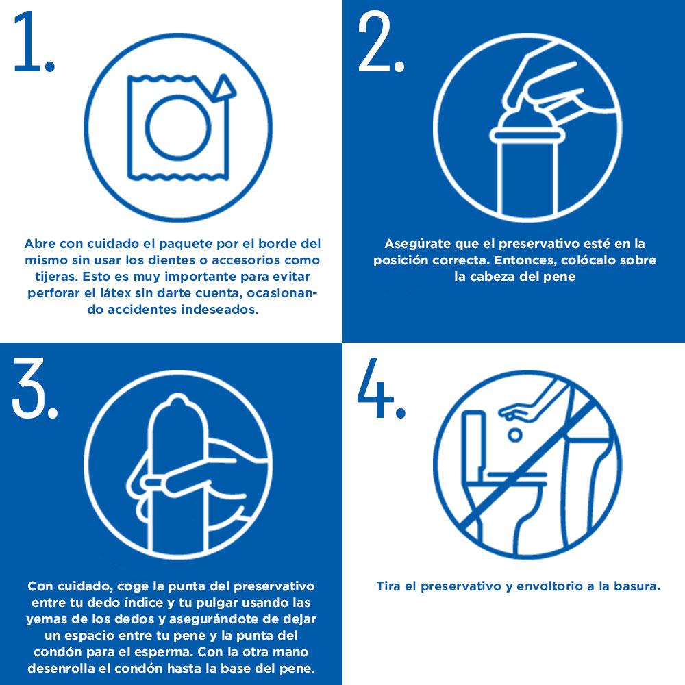 cómo ponerse un preservativo Durex