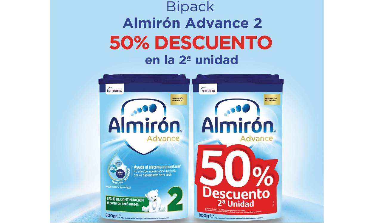 almirón advance 2 Oferta descuento 50% en la segunda unidad