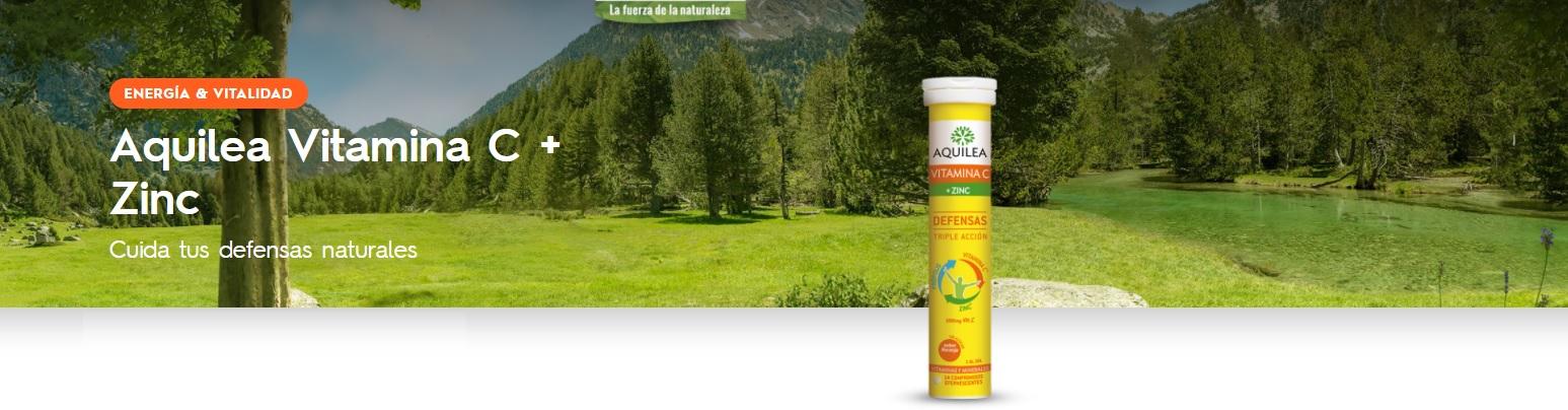 Aquilea Vitamina C + Zinc Defensas Sabor Naranja Comprimidos Efervescentes