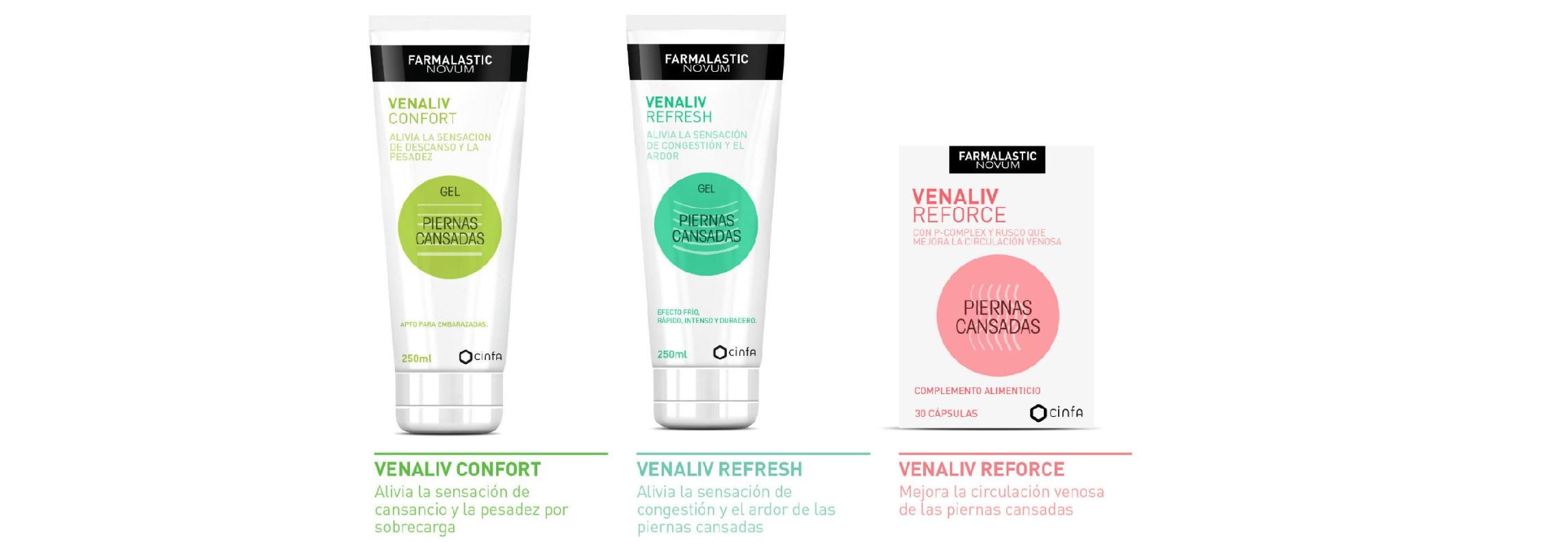 Farmalastic Venaliv Gama de Productos en Farma2go