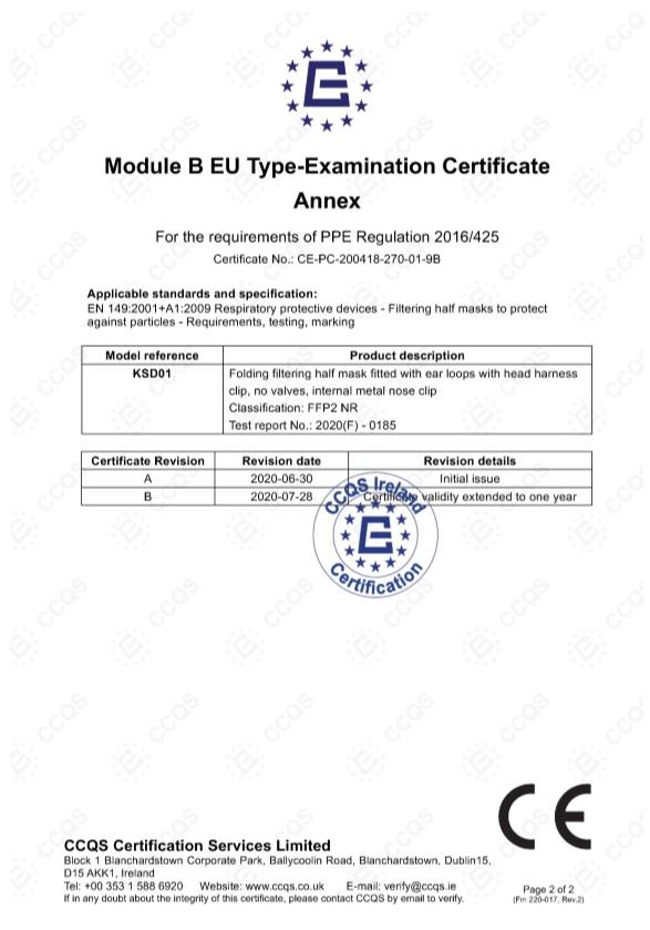 MASCARILLA FFP2 Homologada Blanca Adulto NEW SCIENCE Certificado