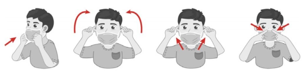 Mascarillas Niños Quirúrgica instrucciones de como se pone una mascarilla en niños