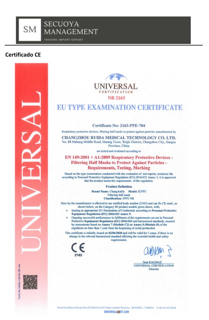 Mascarilla FFP2 Desechable NR 5 Capas BFE 95% 1 unidad - PROMASK
