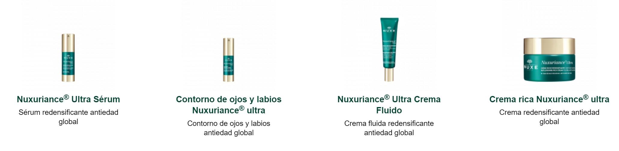 Nuxuriance Gama de Productos en Farma2go