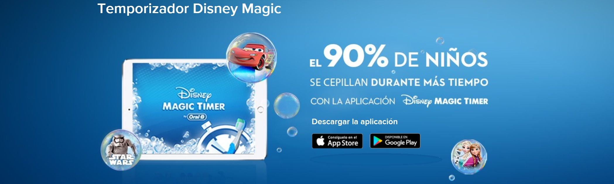 Oral-B magic timer descarga aplicación