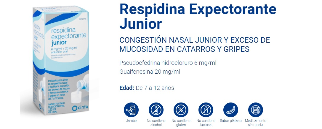 Respidina Expectorante Jarabe Junior
