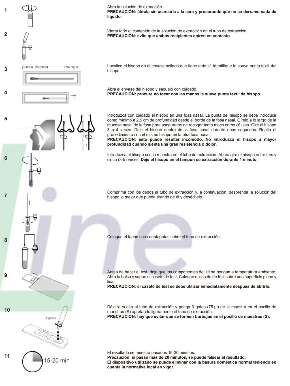 Test Rápido de Antígenos instrucciones de uso