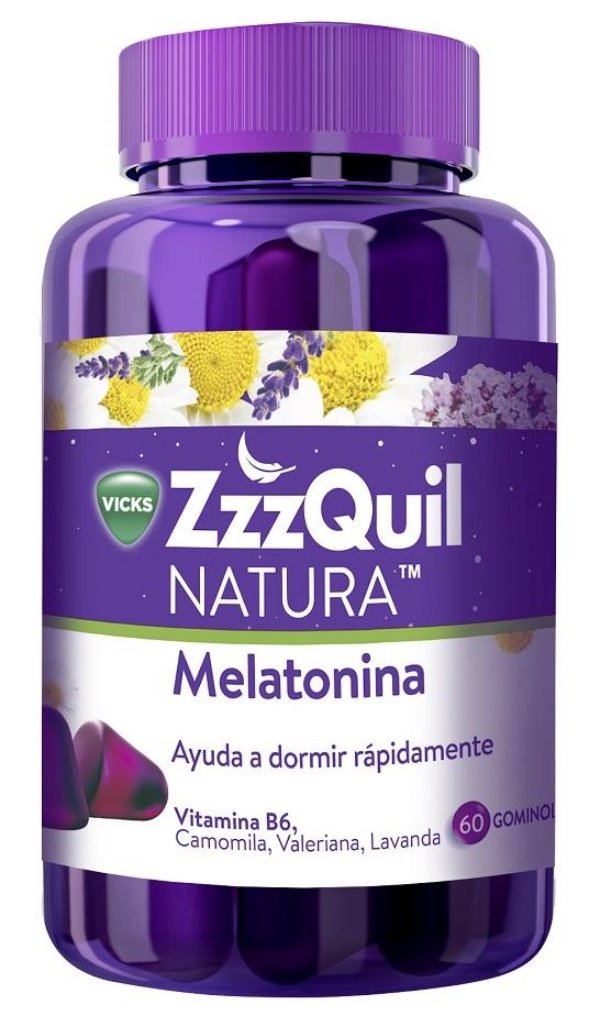 Vicks ZzzQuil Natura Melatonina Ayuda para Dormir en Gominolas
