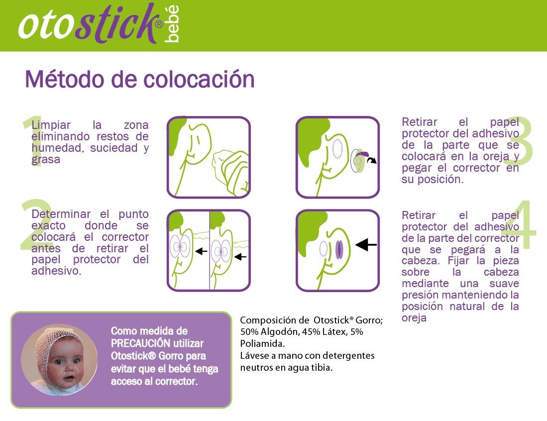 Otostick bebe instrucciones