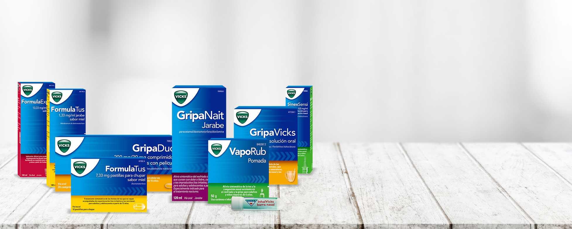 Vicks Vaporub gama de productos en Farma2go