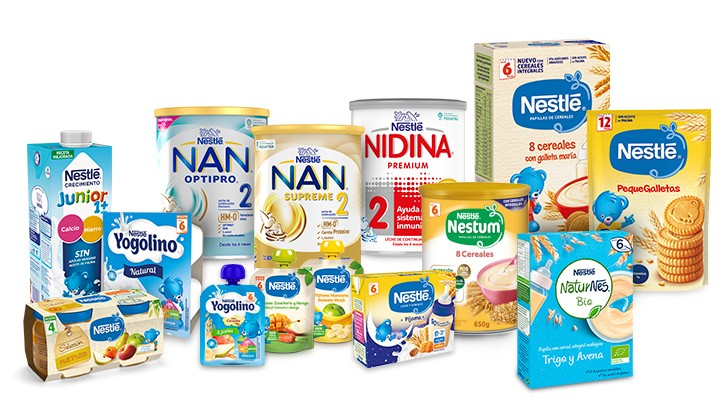 nestle infantil productos